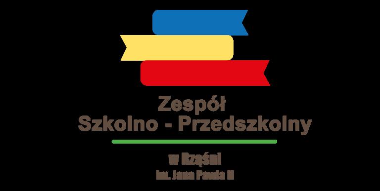Logo Zespołu Szkolno - przedszkolnego im. Jana Pawła II w Rząśni